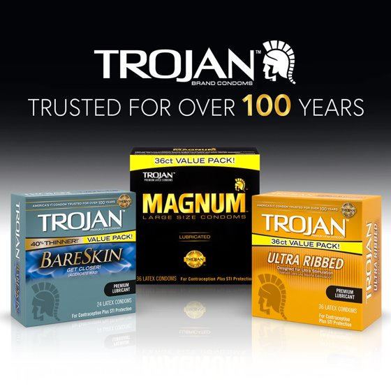 Trojan Stimulations Ultra Ribbed Lubricated Condoms 36ct Walmartcom