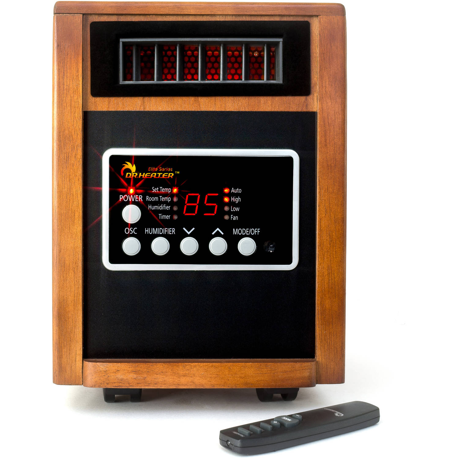 Dr. Infrared Heater DR-998 1500W Advanced Dual Heating System with Humidifier and Oscillation Fan and Remote Control