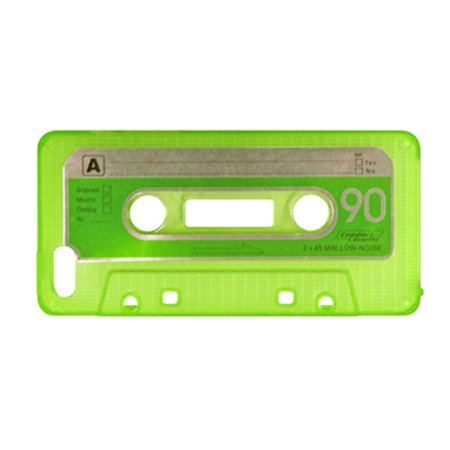 Crystal Skin Candy (Insten Cassette Tape Crystal TPU Rubber Candy Skin Case Cover For Apple iPhone SE 5S 5 - Green)