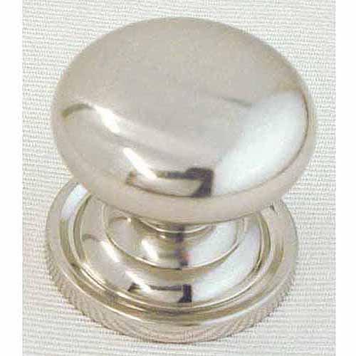 """Ultra 1-1/4"""" Satin Nickel Trendset Solid Brass Mushroom Knob"""