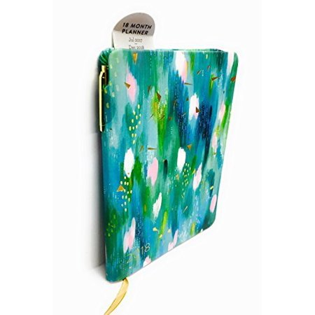 July 2017   December 2018 Planner Calendar 18 Month Planner Size  5 1 4  X 7 3 4    Turquoise   With Pen  192 Pages Feature Monthly And Weekly    By Eccolo