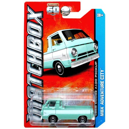 1966 DODGE A100 PICKUP * MBX ADVENTURE CITY * 60th Anniversary Matchbox 2013 Basic Die-Cast Vehicle (#11 of 120)