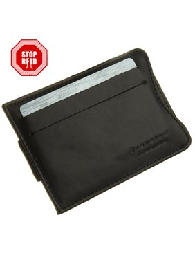 Travelon Safe ID Slim Leather RFID Wallet Money Clip Credit Card Blocking Protection Security Slots