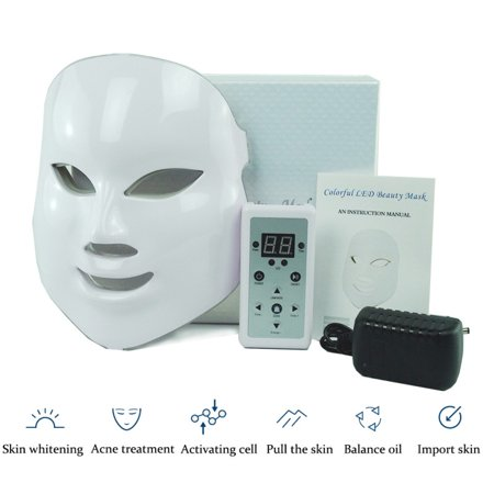 7 Color LED Face Mask   Photon Red Light Therapy For Healthy Skin Rejuvenation   Collagen, Anti Aging, Wrinkles, Scarring   Korean Skin Care, Facial Skin Care