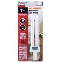 Dulux S 20478 Single Tube Compact Fluorescent Lamp, 7 W, T12, Bipin G23, 10000 hr
