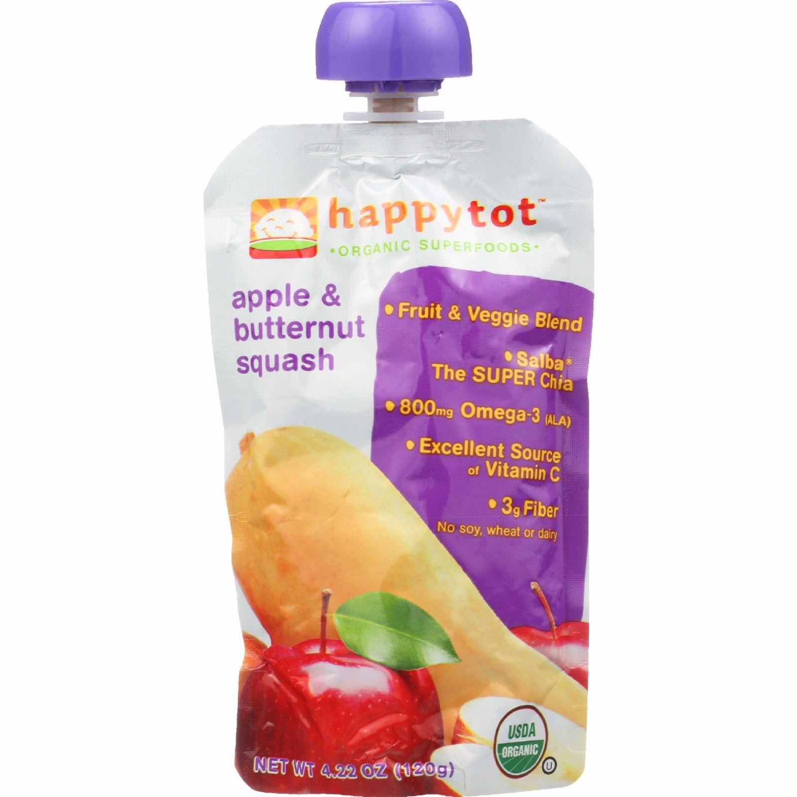 Happy Tot Toddler Food - Organic - Stage 4 - Apple And Butternut Squash - 4.22 Oz - Pack of 16