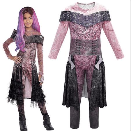 3 Friends Halloween Costumes (Halloween Cosplay Fancy Dress for Descendants 3 Audrey Costume Jumpsuit)