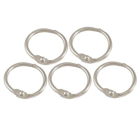5 Pcs Silver Tone 1 Looseleaf Binder Ring for Scrapbooking Book