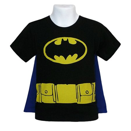 Toddler Baby Boys Costume T-Shirt with Cape](Toddler Batman Shirt With Cape)