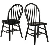 Winsome Wood Windsor Chair 2-Piece chair Set RTA, Black Finish by Winsome Trading Inc.