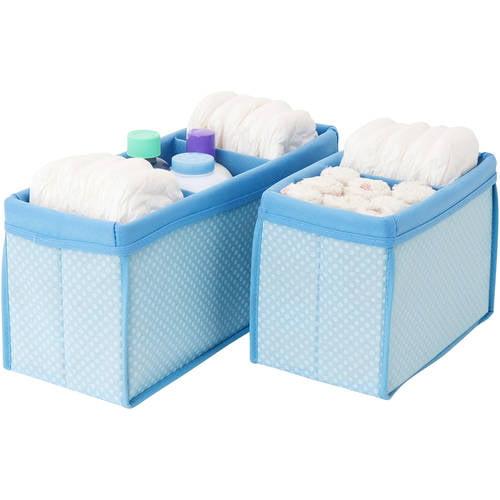 Nursery Organizer Bins, Set of 2, Choose Your Color