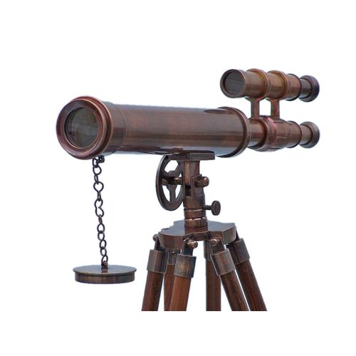 Handcrafted Nautical Decor Floor Standing Refracting Telescope