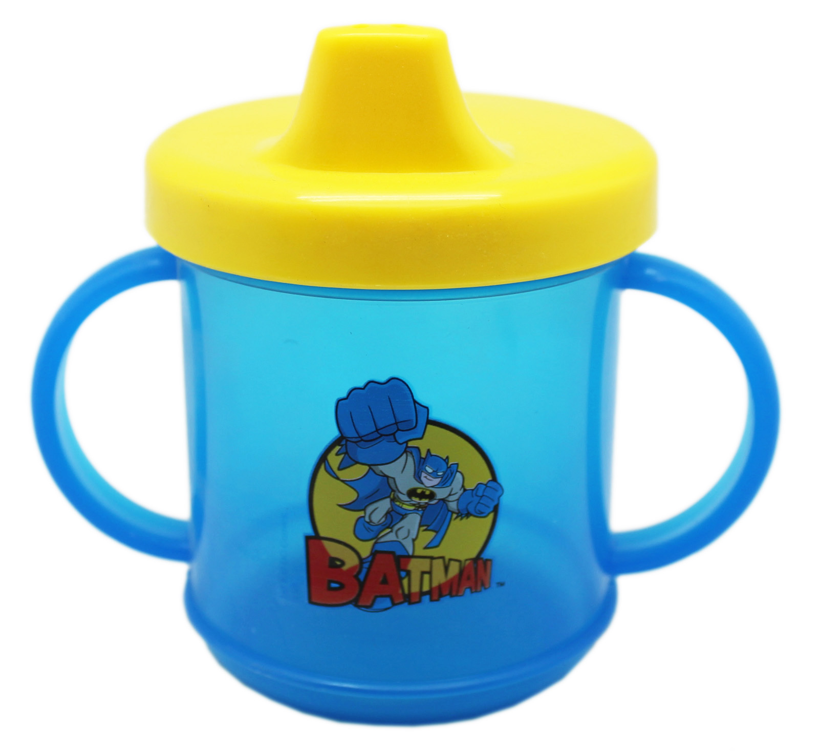 DC Super Friends Batman 2 Handle Sippy Cup (Blue/Yellow)