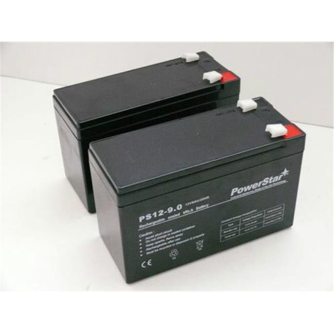 PowerStar PS12-9-2Pack-234 Razor E200 E300 E300S Battery Replacement Set - Upgraded 9Ah