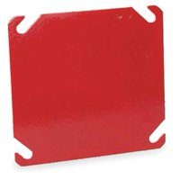 Electrical Box Cover, Blank, 4 in.