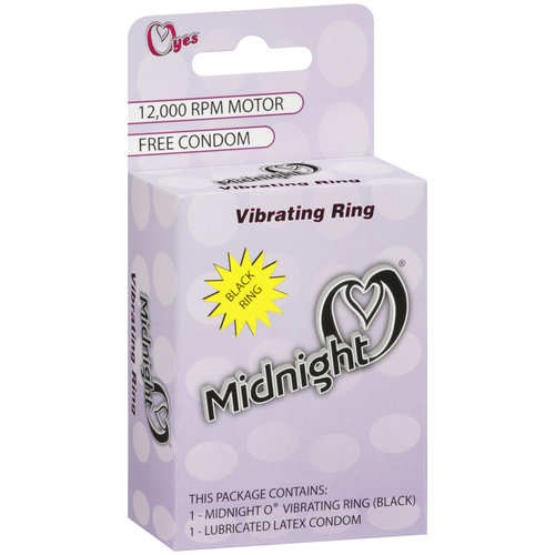 OYes Midnight O Vibrating Ring