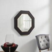 "Octagon Wall Mirror with Metal Bezel Espresso 26"" x 26"" by Naomi Home"