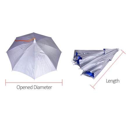 Portable Anti-Ultraviolet Light Rain Shade Head-Mounted Umbrella For Outdoor Fishing - image 4 of 7