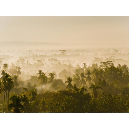 Early Morning Mist on the Kedu Plain at Sunrise from the Borobudur Temple, Java, Indonesia Print Wall Art By Matthew Williams-Ellis