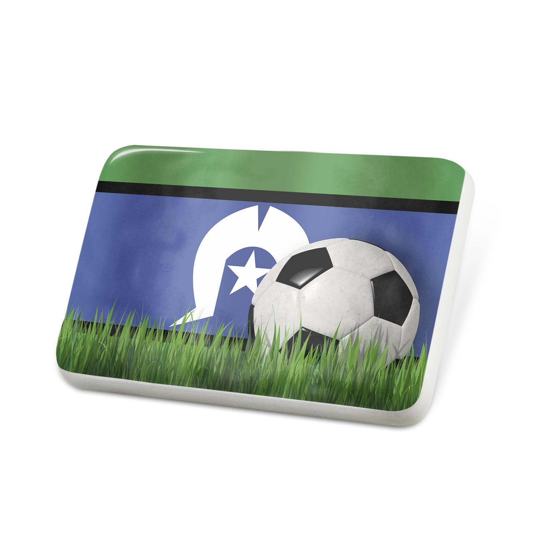 Porcelein Pin Soccer Team Flag Torres Strait Islands region Australia Lapel Badge – NEONBLOND