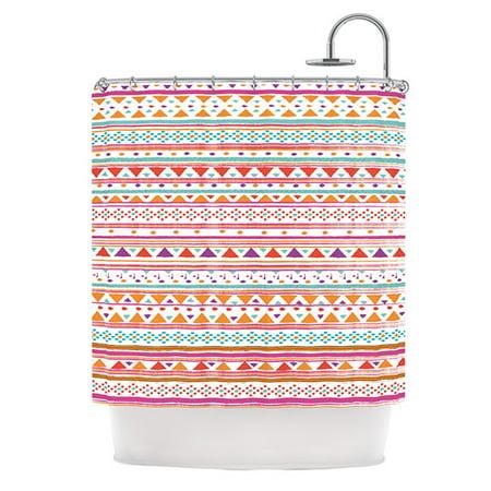 Kess InHouse Nika Martinez Native Bandana Shower Curtain 69x70