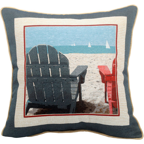 Adirondack Chairs Decorative Pillow