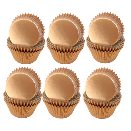 Rose Gold Mini Baking Cups -100pack