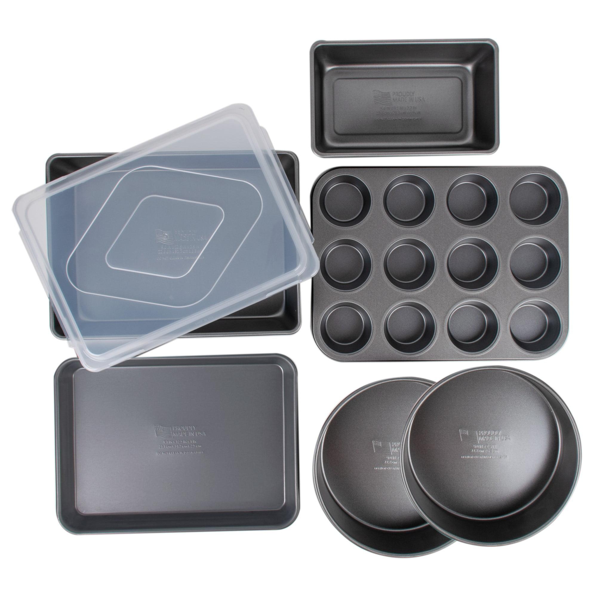 Signature 7 Piece Nonstick Bakeware Set, Durable Commercial Weight, Anti-Warp Rim