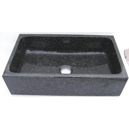 Quiescence Farm Charm 33'' L x 19'' W Single Bowl Farmhouse Granite Kitchen - Granite Single Bowl Farmhouse Sink