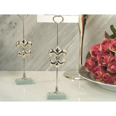 Silver Fleur de lis place card holder Fleur De Lis Hose Holder