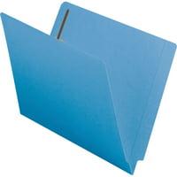 Smead End Tab Fastener Folder Reinforced Tab Blue 50/BX Letter (25040)