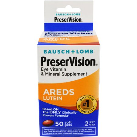 - 5 Pack - Bausch + Lomb PreserVision Eye Vitamin AREDS Lutein 50 Softgels Each