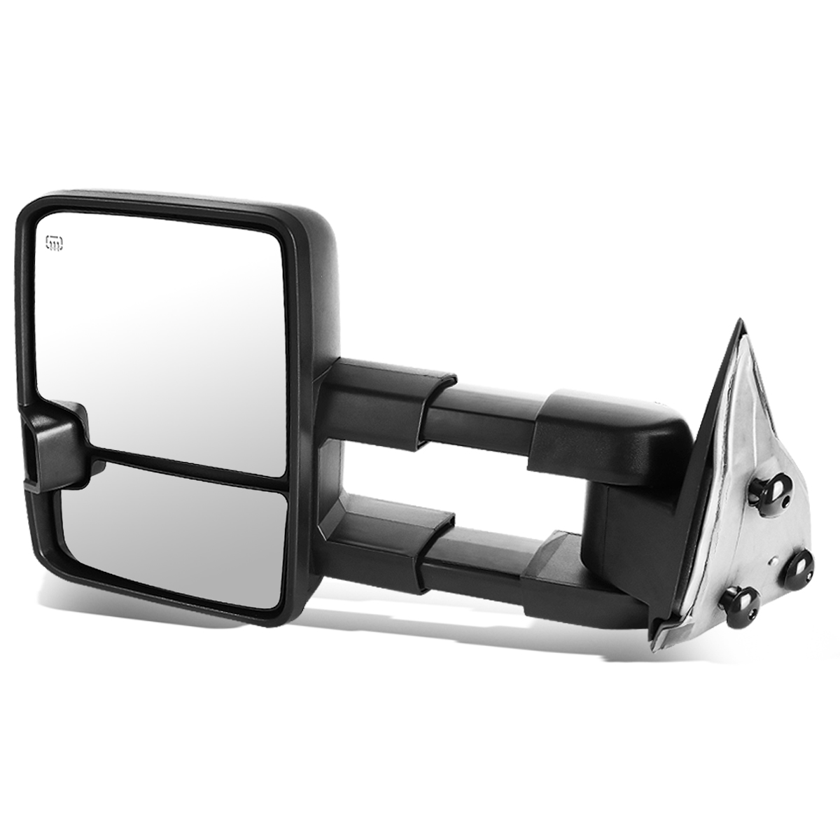 For 2007-2013 Chevy Tahoe/GMC Yukon Powered+Heated+Smoked LED Turn Signal Towing Mirror (Left/Driver)