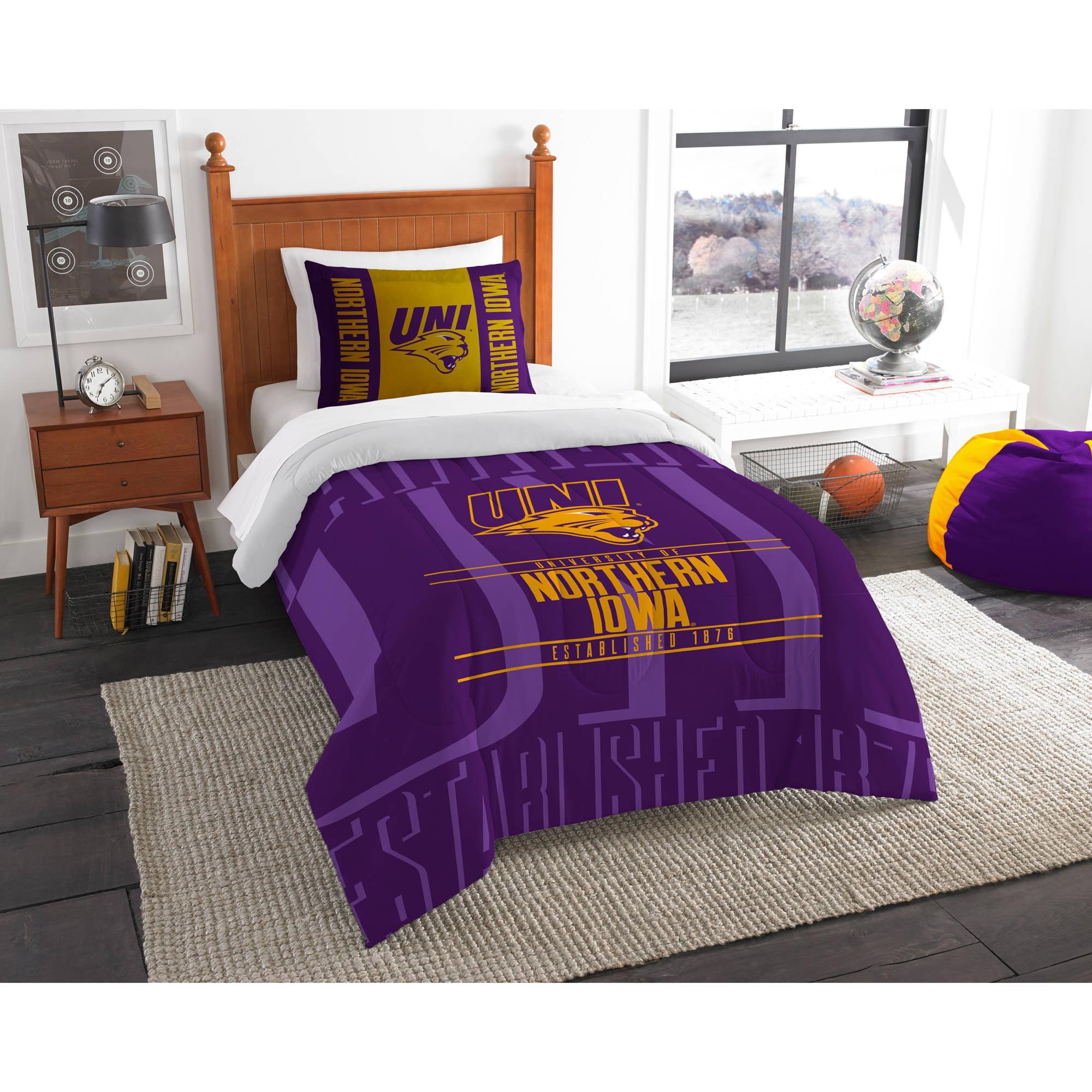 """NCAA Northern Iowa Panthers """"Modern Take"""" Bedding Comforter Set"""
