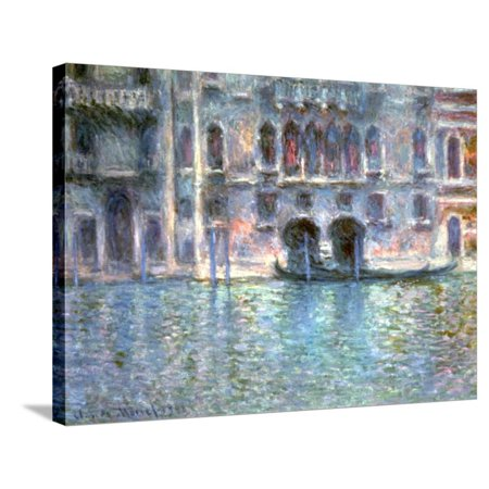 Venice, Palazzo Da Mula, 1908 Stretched Canvas Print Wall Art By Claude Monet Claude Monet Sunset In Venice