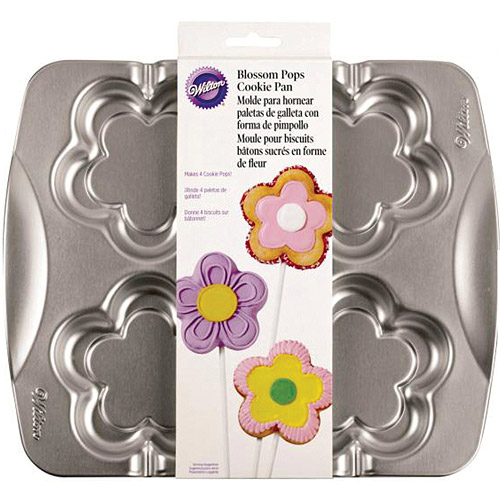 Wilton 4-Cavity Blossom Pops Cookie Pan