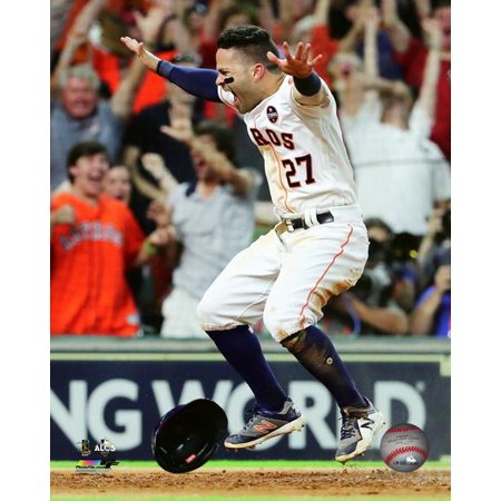 Jose Altuve scores the game winning run Game 2 of the 2017 American League Championship Series Photo Print](The Game 2017 Halloween)