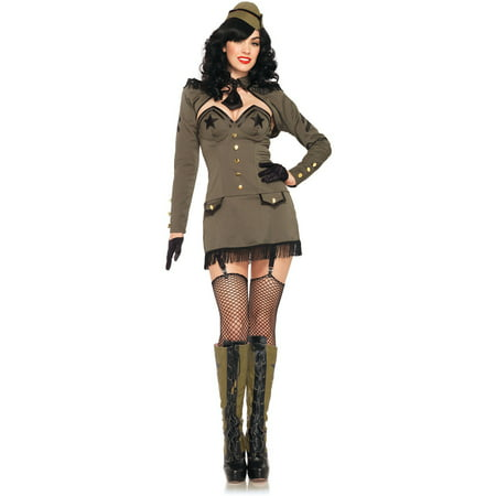 Pin Up Army Girl Adult Halloween Costume - Pin Up Clothing Halloween