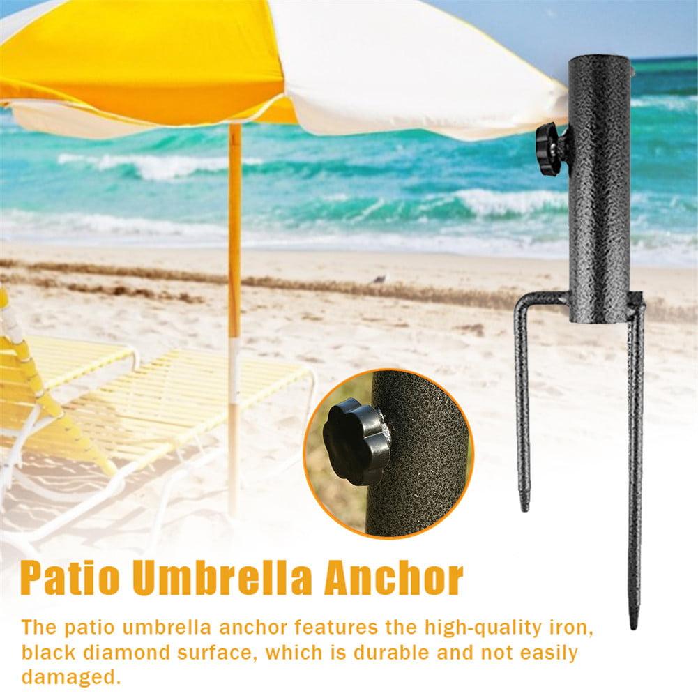 Fanville Beach Parasol Stand Base for Poles Beach Umbrella Sand Anchor Heavy Duty Metal Beach Umbrella Holder Portable Base