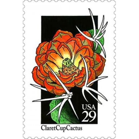 Claret Cup Cactus Poster Print By  Us Postal Service