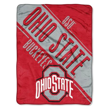 "NCAA Ohio State Buckeyes ""Section"" Micro Raschel Throw, 46"" X 60"""