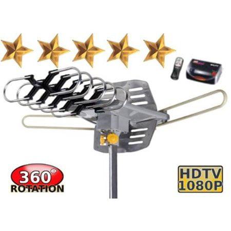 Ktaxon New HDTV Outdoor Amplified Antenna 360 Rotor Digital HD TV UHF VHF 150 Mile