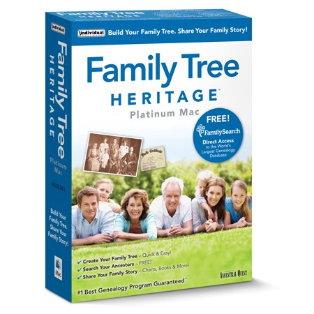 Individual Software Family Tree Heritage Platinum 9 Mac