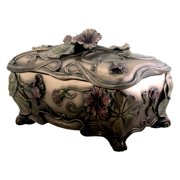 Art Nouveau Poppy Box Jewelry Holder Decoration Accessory Collectible
