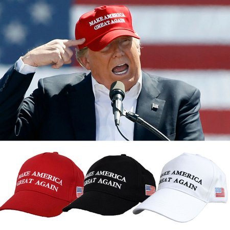 Donald Trump Hat Cap | Make America Great Again USA (Red, Black, White)
