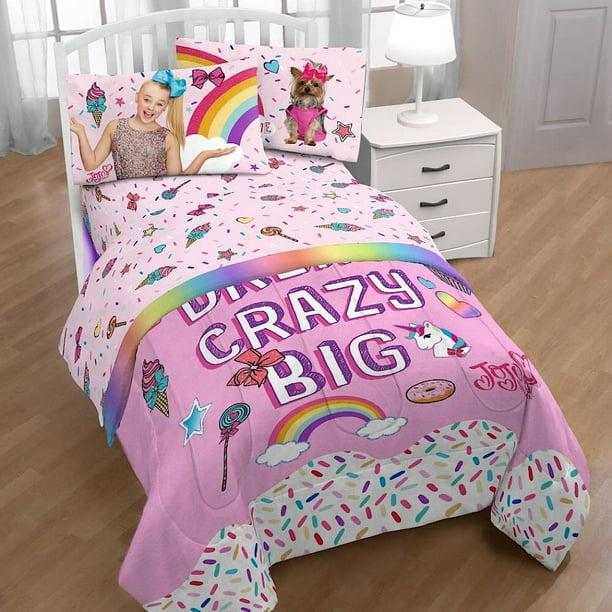 Jojo Siwa Twin Comforter And Sheet Set, Jojo Siwa Bedding Set Full