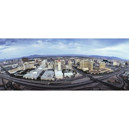 Aerial view of a city Las Vegas Nevada USA Poster Print