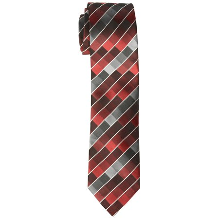Geoffrey Beene NEW Burgundy Red Gray Mens Rafalla Print Slim Neck Tie