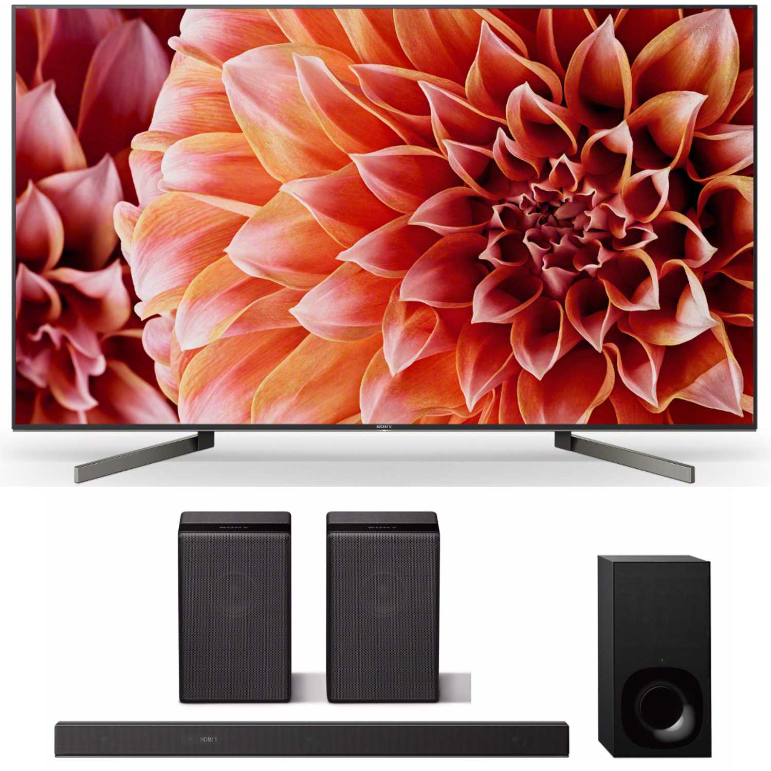 Sony XBR55X900F 55-Inch 4K UltraHD Smart LED TV (2018) with Soundbar and Speaker