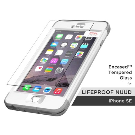 Lifeproof Nuud Tempered Glass Screen Protector, Encased (R40) ShatterProof Guard (case not included) (iPhone 5/SE) (Nuud Iphone 5 Case)